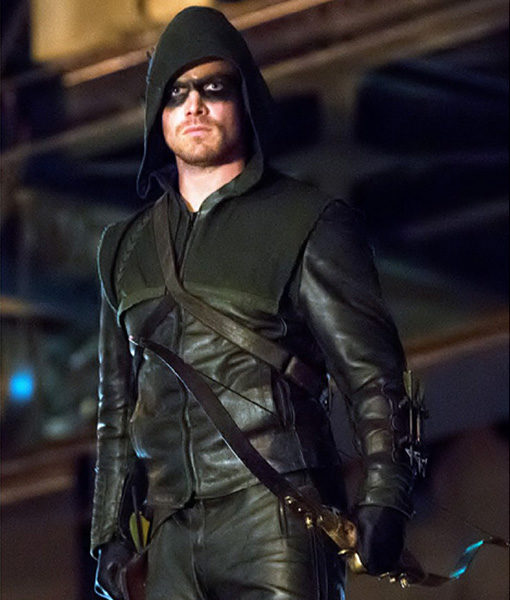 Stephen-Amell-Hooded-Leather-Jacket-Front