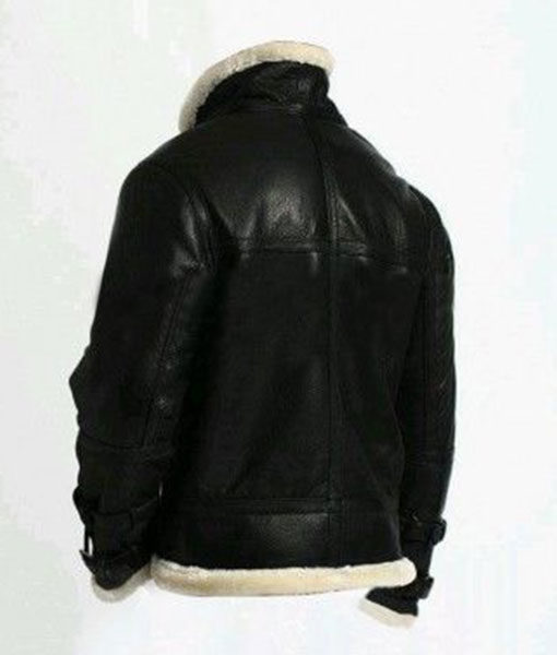 A2 Flight Aviator Black Bomber Leather Jacket