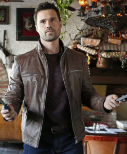 Agents of Shield Grant Ward Brown Leather Jacket