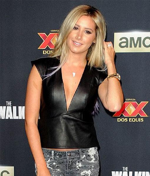 Ashley Tisdale Walking Dead Premiere Vest