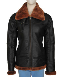 B3 Women Bomber Shearling Jacket