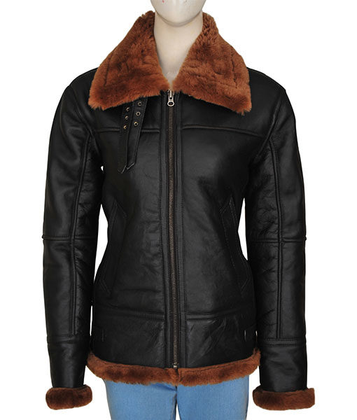 B3-Women-Bomber-Shearling-Jacket-Front