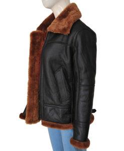 B3 Women Bomber Shearling Jacket