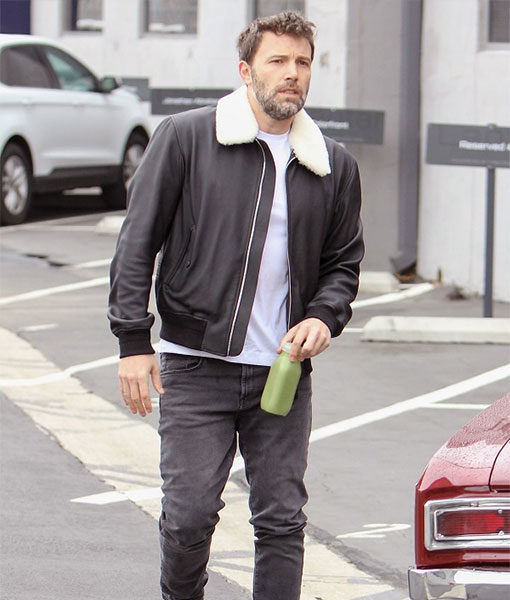 Ben Affleck Fur Leather Jacket