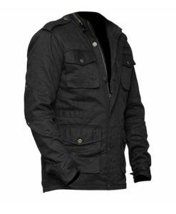 Bernthal Mens Cotton Black Jacket