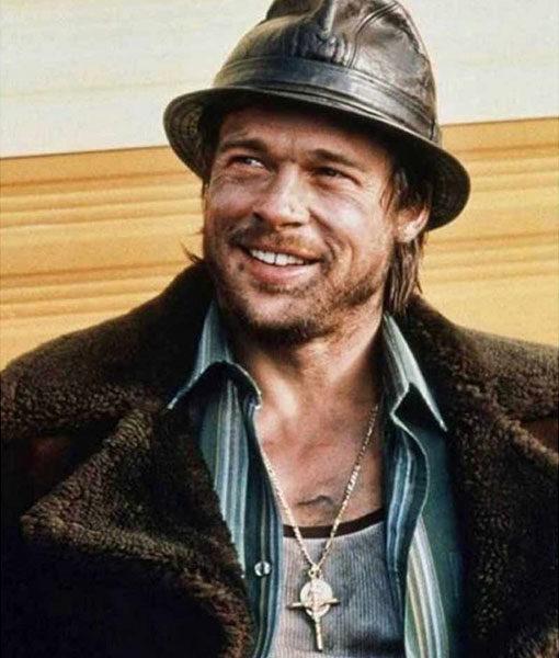 Brad Pitt Mickey Snatch Suede Leather Fur Coat