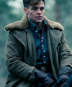 Chris Pine Wonder Woman Fur Coat