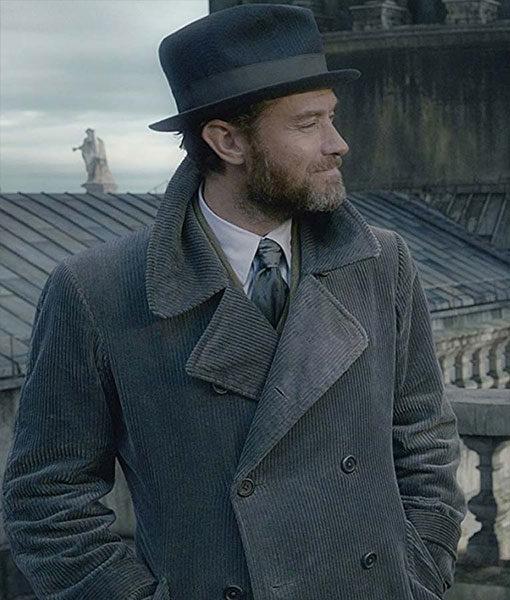 Fantastic Beasts 2 Albus Dumbledore Corduroy Coat