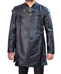 Game Of Thrones Kit Harington Black Leather Jacket Costume