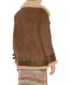 Hailey Baldwin Velocite Shearling Jacket