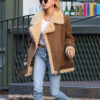 Hailey Baldwin Velocite Shearling Jacket