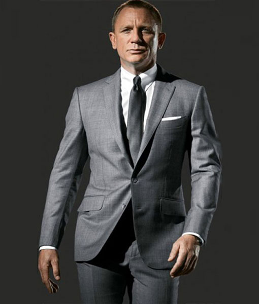 James Bond Skyfall Charcoal Pin Stripes Suit |James Bond Suit Skyfall