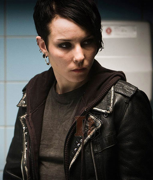 Lisbeth Salander The Girl With The Dragon Tattoo Leather Jacket