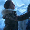 Lost In Space Molly Parker Parka Jacket side (1)