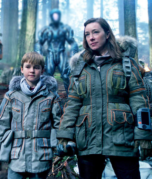 Lost In Space Molly Parker Parka Jacket side (2)