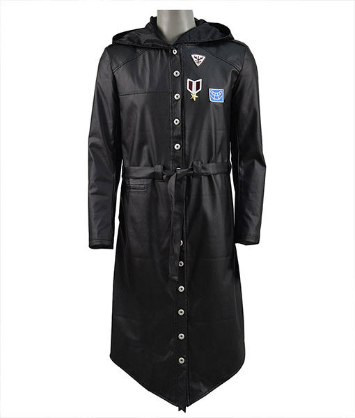 PUBG-Leather-Hooded-Trench-Coat-Front