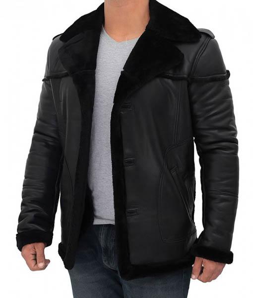 RUSSO Black Long Shearling Coat