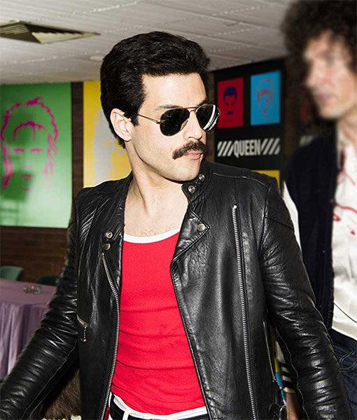 Rami-Malek-Bohemian-Rhapsody-Black-Racer-Jacket-F