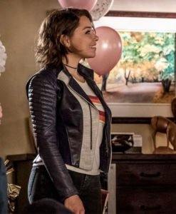 The Flash Nora West XS Leather Jacket