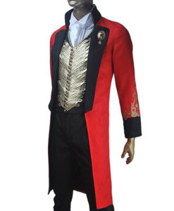 The Greatest Showman Hugh Jackman Red and Black Coat with Vest
