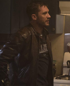 Venom Eddie Brock Black Cafe Racer Jacket