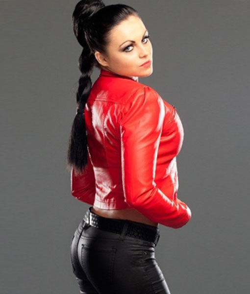 WWE-Diva-Aksana-Red-Leather-Jacket