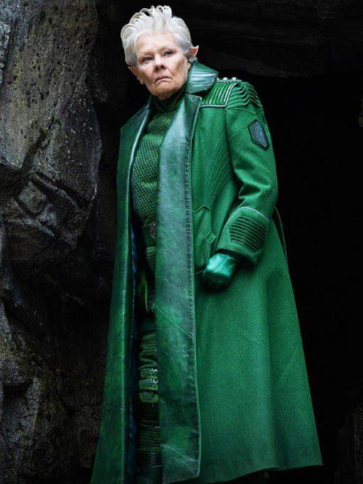 Commander Root Artemis Fowl Judi Dench Green Coat