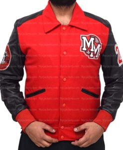 Michael Jackson Mickey Mouse Varsity Jacket