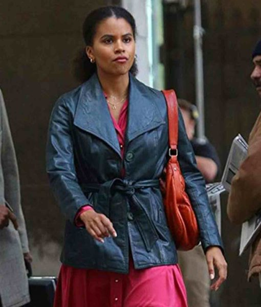 Joker Zazie Beetz Grey Leather Jacket