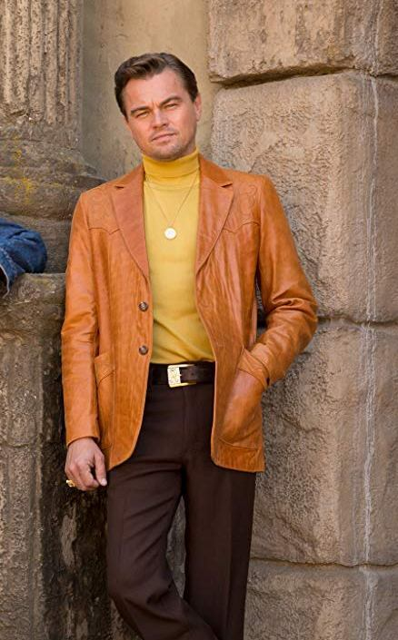 DiCaprio Hollywood Style Brown Leather Blazer