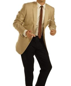 Leonardo DiCaprio Light Brown Suit