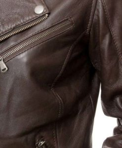 Dauphin Ladies Brown Biker Jacket