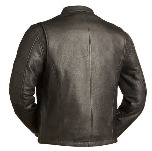 Delaware Mens Dark Brown Cowhide Jacket