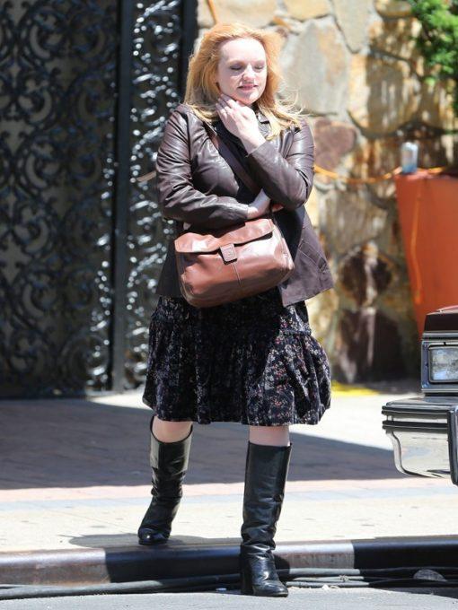 Elisabeth Moss The Kitchen Leather Jacket
