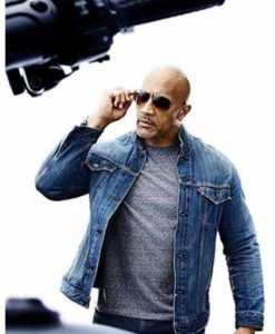 Fast And Furious Luke Hobbs Denim Jacket