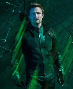 Stephen Amell Green Arrow S8 acket