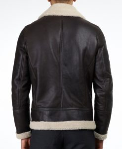 albert brown shearling jacket back