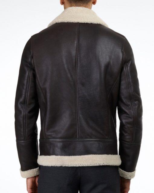 albert brown shearling jacket back