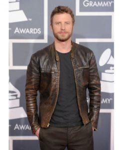 Dierks Bentley Brown Leather Jacket