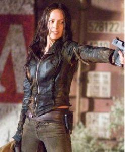 Blair Williams Terminator 4 Leather Jacket