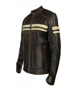 Dark Brown Café Racer Leather Jacket