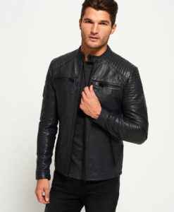 Mens Cafe Racer Leather Jacket