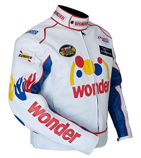 Talladega Nights Ricky Bobby Wonder Racing Leather Jacket