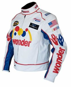 Talladega Nights Ricky Bobby Wonder Racing Leather Jacket