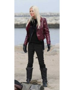 April Wexler Sharknado 6 Leather Jacket