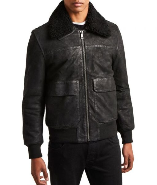 Haugen-Mens-Shearling-Collar-Slimfit-Washed-Leather-Sheepskin-Jacket-600×706