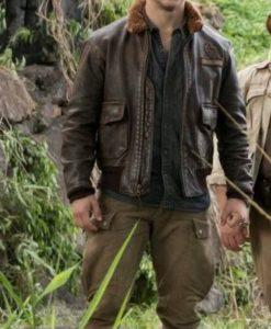 Jumanji 2 Nick Jonas Bomber Leather Jacket