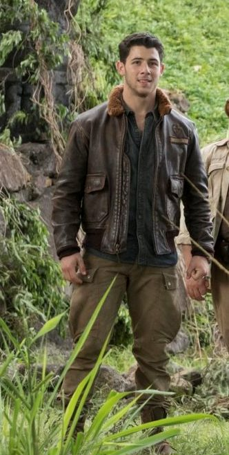 Jumanji 2 Nick Jonas Bomber Leather Jacket