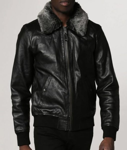 Locklear-Mens-Shearling-Collar-Casual-Black-Leather-Jacket-600×706