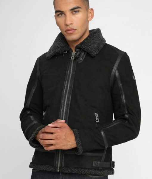 McLaughlin-Mens-Turn-Down-Collar-Shearling-Black-Leather-Jacket-600×706